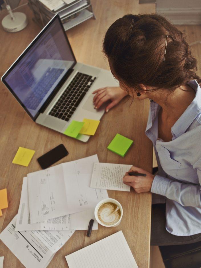 Woman Managing Accounts
